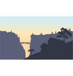 Beautiful house silhouatte vector image