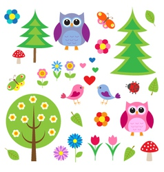 Birdstress and owls vector image vector image