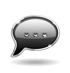 Bubble Talk Icon vector image vector image
