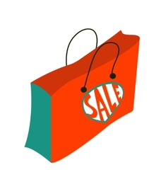 Concept card for sales vector image