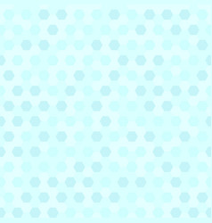 cyan hexagon pattern seamless vector image vector image