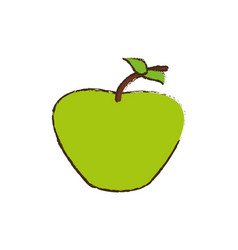 Green apple fruit diet vector