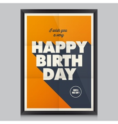 Happy birthday poster card vector image