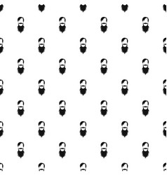 Male avatar with beard pattern vector