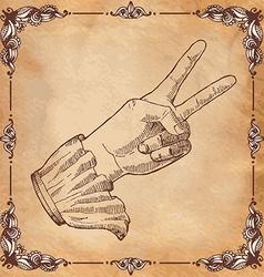 Mans hand gesture vector image