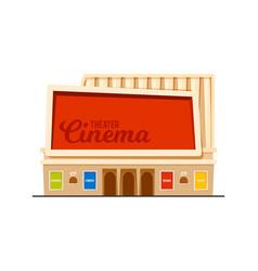 Modern cinema theatre building vector