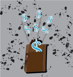 money dollar icon income design vector image