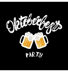 Oktoberfest party hand written lettering poster vector image