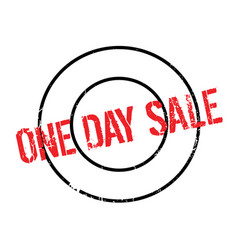 One day sale rubber stamp vector