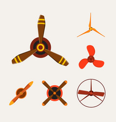 propeller fan wind ventilator equipment air vector image