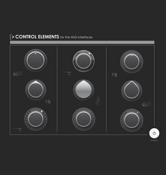 Set of control elements or audio equipment for web vector