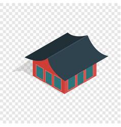 Traditional korean house isometric icon vector