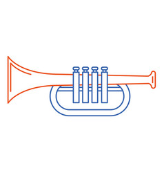 Trumpet instrument isolated icon vector