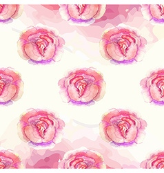 Watercolor Floral pattern with roses vector image vector image