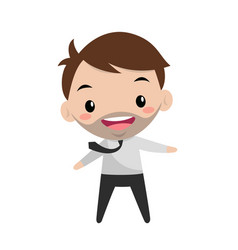 Young smiling manager office life flat editable vector