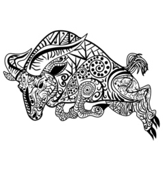 Zentangle stylized cartoon ram vector image vector image