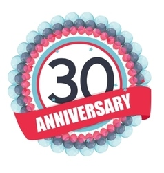 Cute template 30 years anniversary with balloons vector