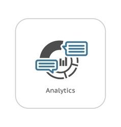 Analytics icon flat design vector