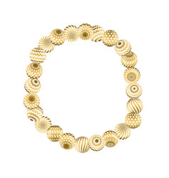 Abstract beads pattern in gold xmas color concept vector