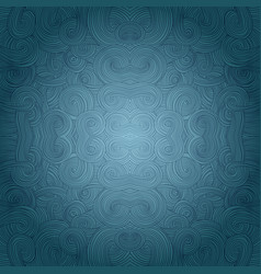 Seamless hand-drawn pattern waves background vector