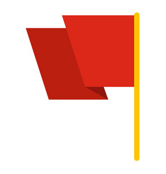 red flag icon isolated vector image