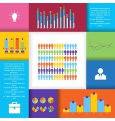 Social network infographics set vector image