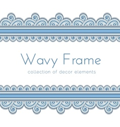 Wave border frame vector