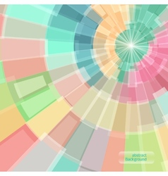 Abstract multicolor circle tunnel vector image