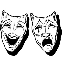 Theatre faces vector