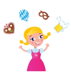 Octoberfest bavarian girl vector