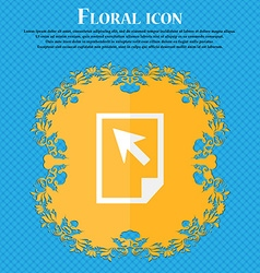 Text file sign icon file document symbol floral vector