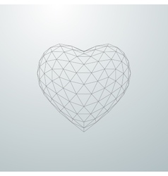 3d heart shape vector