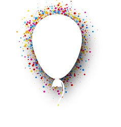 Background with balloon vector