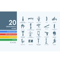 Set of orthopedics icons vector