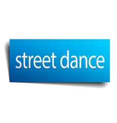 Street dance blue paper sign isolated on white vector