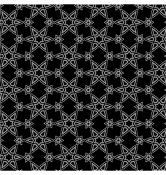 Black and white arabic pattern vector