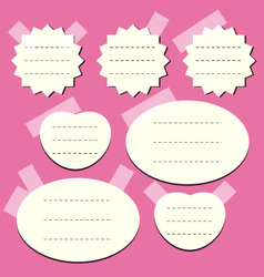 Set of paper notes vector
