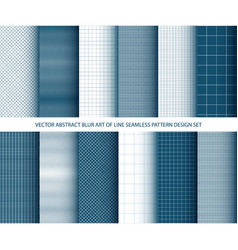 abstract blue art of lines seamless pattern vector image vector image