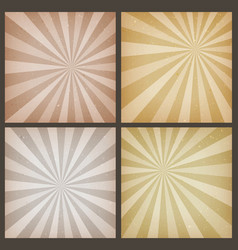 abstract vintage sunbeams backgrounds set vector image vector image