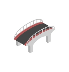 Bridge with steel railings icon isometric 3d style vector