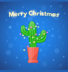 Christmas cactus vector