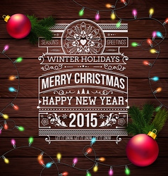 Christmas typography for your winter holidays vector image vector image