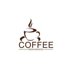 Coffe cup steam icon for coffeeshop design vector