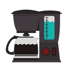 Coffee maker with glass jar vector