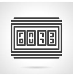 Digital scoreboard black line design icon vector