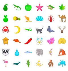 Flamingo icons set cartoon style vector