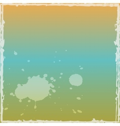 Grunge Watercolor Frame vector image