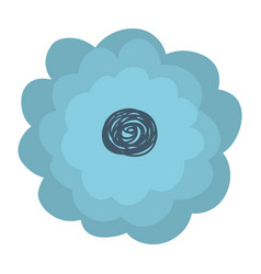 Hand drawing light blue color flower with several vector