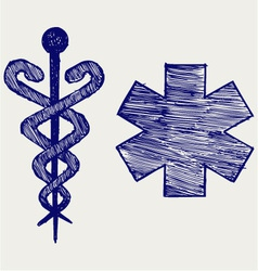 Medical sign vector image vector image