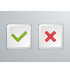 No and yes computer keyboard buttons icons vector